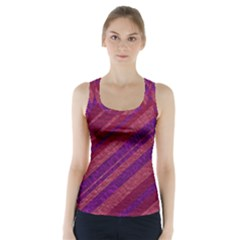 Stripes Course Texture Background Racer Back Sports Top by Nexatart