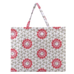 Stamping Pattern Fashion Background Zipper Large Tote Bag by Nexatart
