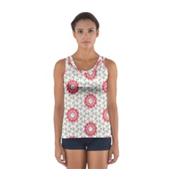 Stamping Pattern Fashion Background Women s Sport Tank Top