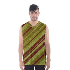Stripes Course Texture Background Men s Basketball Tank Top