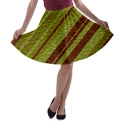 Stripes Course Texture Background A Line Skater Skirt