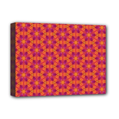 Pattern Abstract Floral Bright Deluxe Canvas 16  X 12   by Nexatart