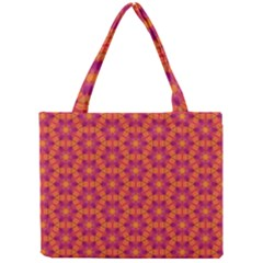 Pattern Abstract Floral Bright Mini Tote Bag by Nexatart