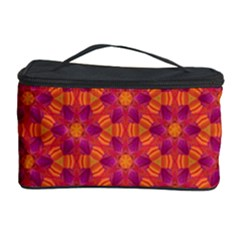 Pattern Abstract Floral Bright Cosmetic Storage Case by Nexatart