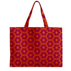Pattern Abstract Floral Bright Zipper Mini Tote Bag by Nexatart