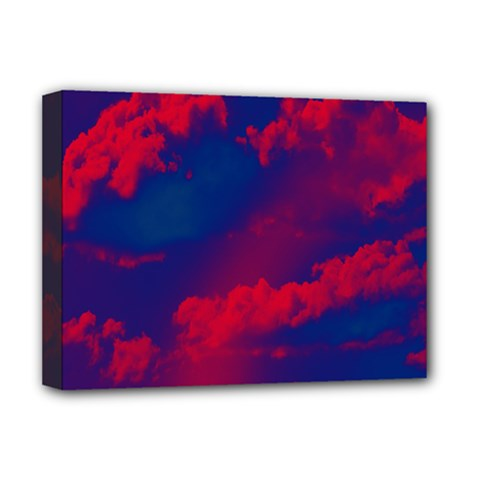 Sky Pattern Deluxe Canvas 16  X 12   by Valentinaart
