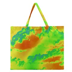 Sky Pattern Zipper Large Tote Bag by Valentinaart