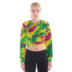Sky Pattern Cropped Sweatshirt by Valentinaart