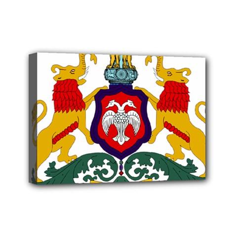 State Seal Of Karnataka Mini Canvas 7  X 5  by abbeyz71