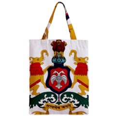 State Seal Of Karnataka Zipper Classic Tote Bag by abbeyz71
