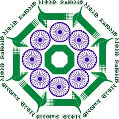 Seal Of Indian State Of Jharkhand Golf Umbrellas by abbeyz71