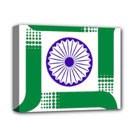 Seal Of Indian State Of Jharkhand Deluxe Canvas 14  X 11  by abbeyz71