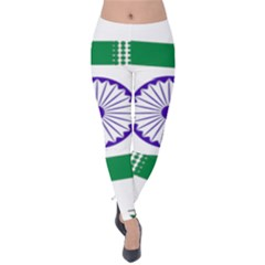 Seal Of Indian State Of Jharkhand Velvet Leggings by abbeyz71