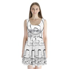 Seal Of Indian State Of Manipur  Split Back Mini Dress  by abbeyz71