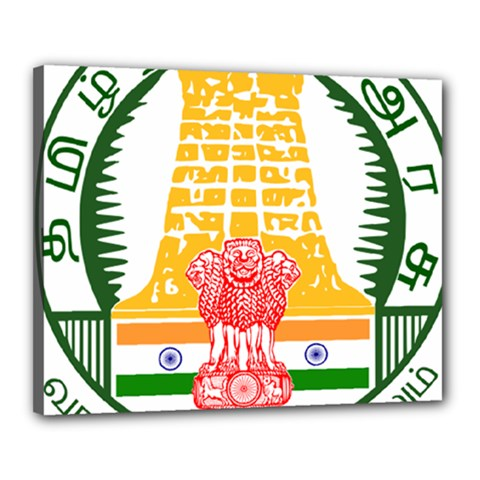 Seal Of Indian State Of Tamil Nadu  Canvas 20  X 16  by abbeyz71