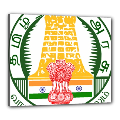 Seal Of Indian State Of Tamil Nadu  Canvas 24  X 20  by abbeyz71