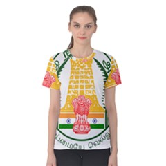 Seal Of Indian State Of Tamil Nadu  Women s Cotton Tee by abbeyz71