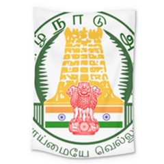 Seal Of Indian State Of Tamil Nadu  Large Tapestry by abbeyz71