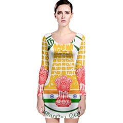 Seal Of Indian State Of Tamil Nadu  Long Sleeve Bodycon Dress by abbeyz71