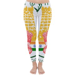 Seal Of Indian State Of Tamil Nadu  Classic Winter Leggings by abbeyz71