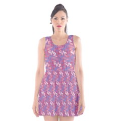 Pattern Abstract Squiggles Gliftex Scoop Neck Skater Dress