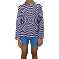 Pattern Stripes Background Kids  Long Sleeve Swimwear