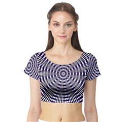 Pattern Stripes Background Short Sleeve Crop Top (tight Fit)