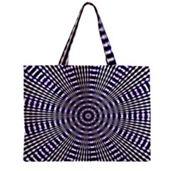 Pattern Stripes Background Zipper Mini Tote Bag
