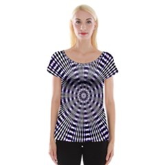 Pattern Stripes Background Women s Cap Sleeve Top by Nexatart
