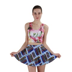 Abstract Pattern Seamless Artwork Mini Skirt by Nexatart