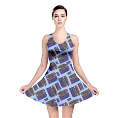 Abstract Pattern Seamless Artwork Reversible Skater Dress
