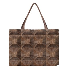 Collage Stone Wall Texture Medium Tote Bag