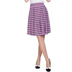 Pattern Grid Background A Line Skirt