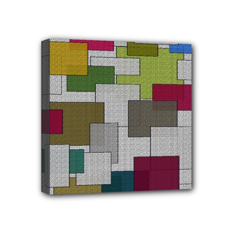 Decor Painting Design Texture Mini Canvas 4  X 4  by Nexatart
