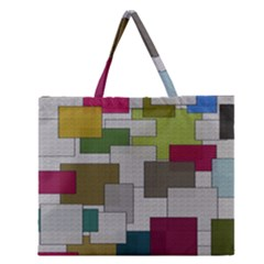 Decor Painting Design Texture Zipper Large Tote Bag