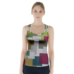 Decor Painting Design Texture Racer Back Sports Top