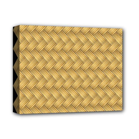 Wood Illustrator Yellow Brown Deluxe Canvas 14  X 11  by Nexatart