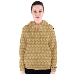 Wood Illustrator Yellow Brown Women s Zipper Hoodie