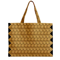 Wood Illustrator Yellow Brown Zipper Mini Tote Bag by Nexatart