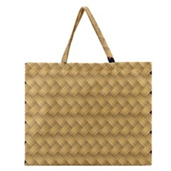 Wood Illustrator Yellow Brown Zipper Large Tote Bag by Nexatart