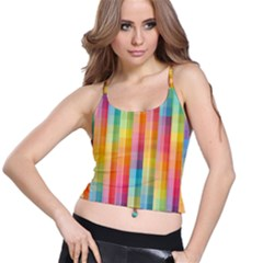 Background Colorful Abstract Spaghetti Strap Bra Top