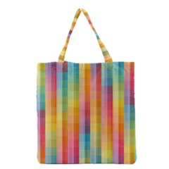 Background Colorful Abstract Grocery Tote Bag by Nexatart