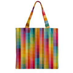 Background Colorful Abstract Zipper Grocery Tote Bag by Nexatart