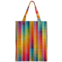 Background Colorful Abstract Zipper Classic Tote Bag by Nexatart