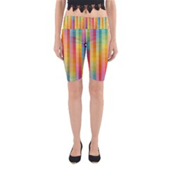 Background Colorful Abstract Yoga Cropped Leggings