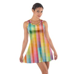 Background Colorful Abstract Cotton Racerback Dress