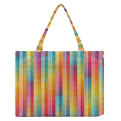 Background Colorful Abstract Medium Zipper Tote Bag by Nexatart