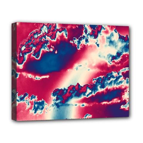 Sky Pattern Deluxe Canvas 20  X 16   by Valentinaart