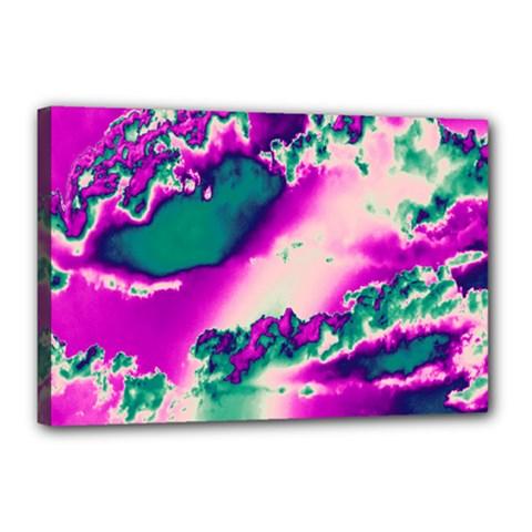 Sky Pattern Canvas 18  X 12  by Valentinaart