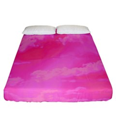 Sky pattern Fitted Sheet (California King Size)